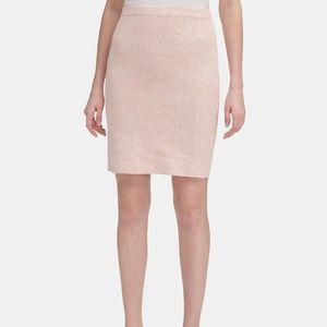 New Calvin Klein Jacquard Knit Pencil Skirt